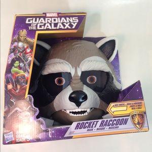 🦆 Moving Rocket Raccoon mask Marvel Guardians NEW